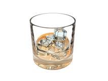 Vetro di whisky illustrazione di stock