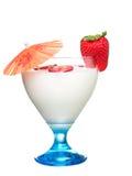 Vetro di yogurt Fotografia Stock Libera da Diritti