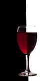Vetro divertente di vino Fotografie Stock