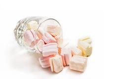 Vetro e caramelle gommosa e molle Immagine Stock Libera da Diritti