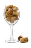 Vetro e sugheri di vino Immagine Stock