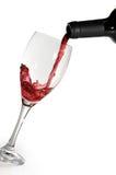 Vetro e vino Fotografia Stock Libera da Diritti