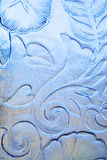 Vetro floreale blu Immagine Stock