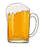 Vetro gelido della pittura della birra leggera illustrazione vettoriale