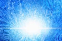 Vetro ghiacciato congelato Fotografia Stock