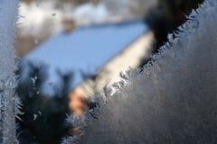 Vetro glassato sulla finestra della casa Fotografie Stock Libere da Diritti