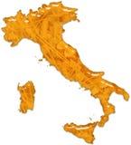 Vetro lucido dell'alimento della pasta dell'Italia Immagini Stock Libere da Diritti
