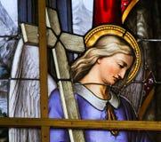 Vetro macchiato - allegoria sulla sofferenza di Gesù Fotografie Stock