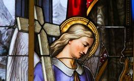 Vetro macchiato - allegoria sulla sofferenza di Gesù Fotografia Stock