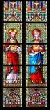Vetro macchiato - cuore sacro di Gesù e la maggior parte del cuore puro di marzo Immagini Stock
