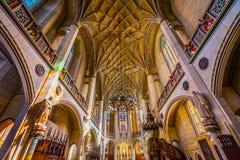 Vetro macchiato della basilica tutta la chiesa Schlosskirche Wittenberg Germania del castello dei san Fotografia Stock