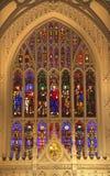 Vetro macchiato della parte interna di New York City della chiesa di trinità Fotografie Stock Libere da Diritti