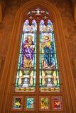Vetro macchiato della st Paul e della st Peter Fotografia Stock