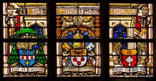 Vetro macchiato di religione nella cattedrale del signore, Fiandre, Belgio Immagini Stock