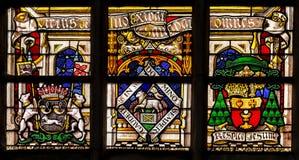 Vetro macchiato di religione nella cattedrale del signore, Fiandre, Belgio Fotografie Stock Libere da Diritti