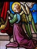 Vetro macchiato di un angelo Fotografia Stock Libera da Diritti