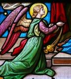 Vetro macchiato di un angelo Immagine Stock Libera da Diritti