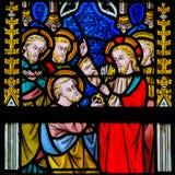 Vetro macchiato - Gesù e St Peter fotografia stock libera da diritti