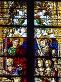Vetro macchiato interno della chiesa cattolica, Metz, Francia Fotografie Stock Libere da Diritti