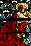 Vetro macchiato Jesus Fotografie Stock Libere da Diritti