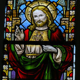 Vetro macchiato - Jesus Christ ed il cuore sacro Immagine Stock Libera da Diritti