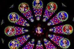 Vetro macchiato Jesus Disciples The Se Cathedral Lisbona Portogallo Immagine Stock Libera da Diritti