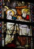Vetro macchiato - la presentazione di Gesù al tempio Immagini Stock Libere da Diritti
