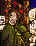 Vetro macchiato nel monastero di Batalha - Gesù nel tempio Fotografia Stock Libera da Diritti