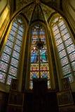 Vetro macchiato nella cattedrale la città olandese di Den Bosch Fotografia Stock