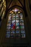 Vetro macchiato nella cattedrale la città olandese di Den Bosch Fotografia Stock Libera da Diritti