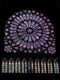 Vetro macchiato in Notre Dame Parigi Immagine Stock Libera da Diritti