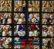 Vetro macchiato - Pentecoste fotografia stock
