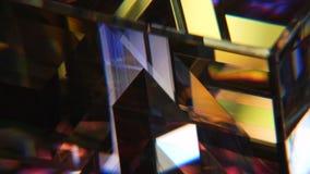 vetro macchiato rotto stock footage