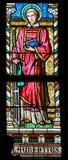 Vetro macchiato - Saint Lawrence di Roma Fotografia Stock
