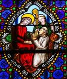 Vetro macchiato - san Conteste consacrato come vescovo di Bayeux i royalty illustrazione gratis