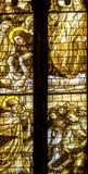 Vetro macchiato Santa Maria Frari Church Venice Italy dei san dei monaci Immagini Stock Libere da Diritti
