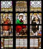 Vetro macchiato - St Augustine, John l'evangelista e Elizabe Fotografia Stock Libera da Diritti