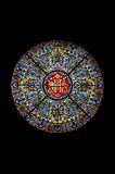 Vetro macchiato in una cattedrale Fotografie Stock Libere da Diritti