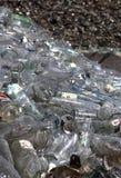 Vetro nell'impianto di riciclaggio Fotografia Stock Libera da Diritti