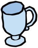 Vetro per l'illustrazione ghiacciata del caffè royalty illustrazione gratis