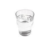Vetro pieno di acqua fotografia stock