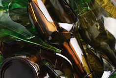Vetro residuo. Riciclato. Fotografia Stock