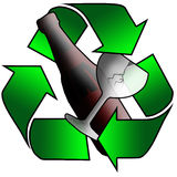 Vetro riciclato Fotografie Stock