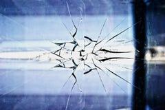 Vetro rotto, priorità bassa luminescente astratta immagini stock
