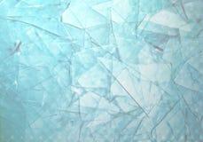 Vetro tagliato blu del fondo astratto Immagini Stock Libere da Diritti