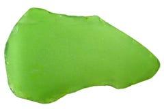 Vetro tagliato bottiglia verde Fotografie Stock Libere da Diritti