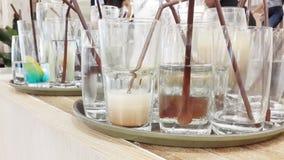 vetro usato per il servizio della bevanda immagine stock libera da diritti