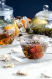 Vetro verde del tè del oolong della tazza Immagine Stock