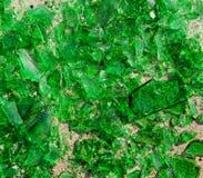 Vetro verde rotto Fotografia Stock Libera da Diritti
