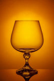 Vetro vuoto del brandy Fotografie Stock